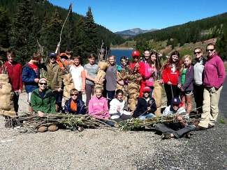 A big thank you to Ms. Littman, Ms. Sideli and their wonderful Vail Mountain School 7th and 8th graders! The Eagle River Watershed Council and the Eagle River Water & Sanitation District were thrilled to team up with this energetic and enthusiastic group for a morning of willow harvesting near Black Lakes. The kids quickly became experts at spotting, lopping and pruning willows, smiling and laughing all morning long. The fruits of their labor will be planted along the Eagle River in the Edwards Restoration area.  Thanks, Vail Mountian School!