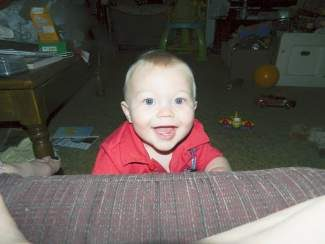 Happy 1st birthday, Trysten Robert Dean! Love, Grandma, Grandpa, Mommy, Granny, Brandon and Nathalie.