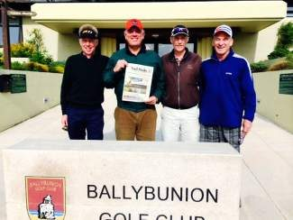 They got the Daily in Ballybunion! Lucky golfers D'Arcy Cole, Allan Finney, John Harrison and Rob LeVine have crossed off their bucket list golfing in Ireland! Eight different courses in eight days — way to go boys!