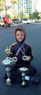 Maddox Shull, of Eagle, made quite a haul at the United States Karate Association National Championships, which was held March 28-30 in Las Vega. He trains at James Lee's Karate Studio in Eagle. In his age division, Maddox, 7, finished fifth in weapons; third in chanbrara; third in kata, first in team kumite (sparring); and first in individual kumite. Congratulations to our national champion. Love, Grandma Kathy and Leon.