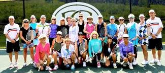 Once again, a fabulous time was had by all of the Ladies of the Valley. Huge thanks to Marylou, Reese and Dave and the Beaver Creek Tennis Center for donating their time and venue to put on an incredible tournament. Thanks to Polly Hastie at Dr. Mangat's, Radio Shack in Avon, Valley Girl Boutique, Columbine Bakery, City Market in Avon, Northside Coffee & Kitchen,The Rose, Rich's Auto Body, Anne Mintz, Steve and Victoria Jacobson, Fila, Avon Bakery, Sally Horn, The Donahue's, Suzanne Taylor Hood and all of the women who could not play but made generous donations. Sally Horn and Shiloy Sanders took back their title as champions; Ivy Kushner and Victoria Jackobson came in second. More than $2000 was raised for Eagle County Special Olympics.