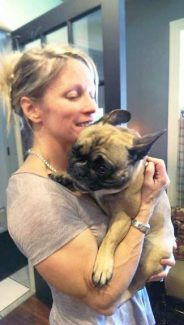 Vail Valley local Mary Harper comforts her little dog Chloe after her