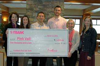 Thank you FirstBank for supporting Pink Vail! Your generous support helps heal the mind and body of cancer patients in the Vail Valley. Learn how you can support cancer fighters and honor those no longer with us at Pink Vail on Saturday. Visit www.pinkvail.com.