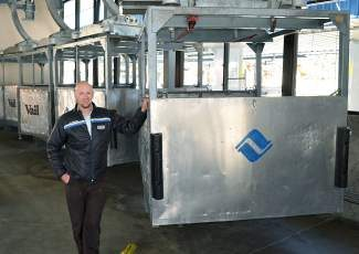 By sending food, beverages and other supplies up the mountain via these gondola work cars instead of snowcats, Vail Resorts saves vast amounts of fuel, says Luke Cartin, senior mountain environmental affairs manager