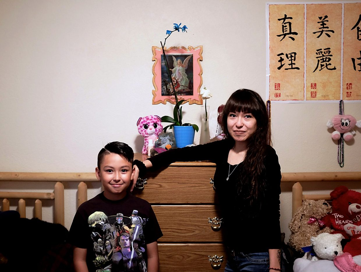 Norma Quezada's children, Guillermo, 8, and Mirka Portilla, 17, feel as lucky as their mother to have found a new home, and so quickly. Guillermo transferred from Dillon Valley Elementary to Silverthorne's grade school this year for third grade, while Mirka hopes to start vet tech classes at Colorado Mountain College after finishing up at Summit High School this past spring.