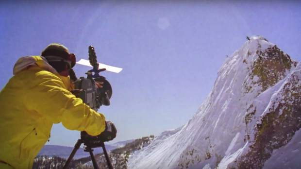 Warren Miller behind the camera in a vintage clip now repurposed for