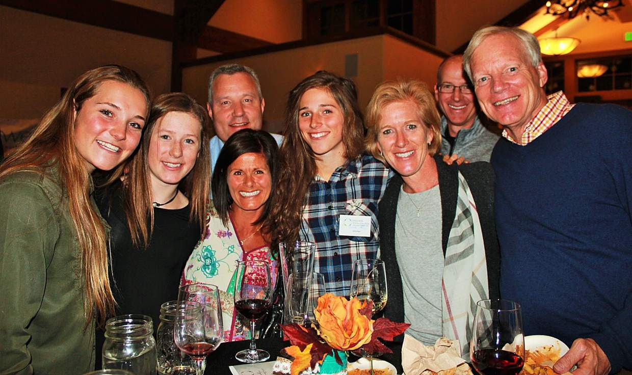 Valley Tastings: Food for Youth attracted many local families who enjoyed delicious food, live music and an amazing silent auction. Front row, from left, Youth Leadership Council member Kendra Hoyt, Allie Resnick, Linda Hall, Youth Leadership Council member Emma Hall, Sara Resnick and Kirk Dwyer, executive director of Ski and Snowboard Club Vail. Back row is Eric Resnick, KSL Resorts and Wyatt Hall.