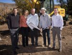 Team members with the new Basecamp development in Beaver Creek recently broke ground on the property.