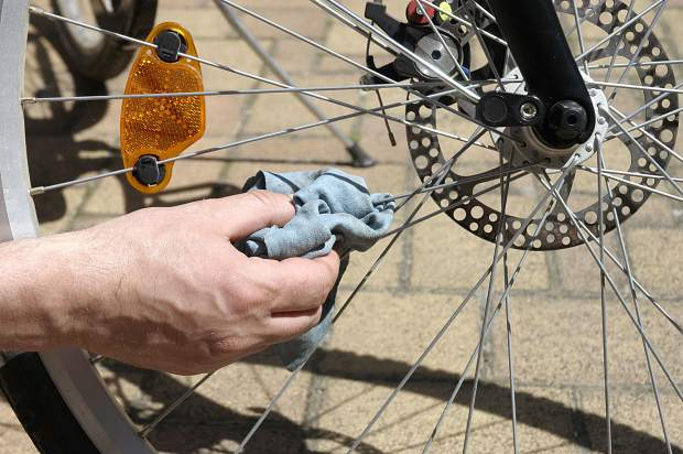 Bike maintenance is vital when switching from summer to winter sports. Check your drive train and all components for rust before storing in a warm, dry place if possible, or store outside under a heavy tarp to protect from snow.