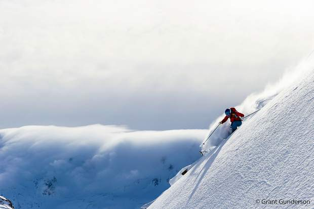 Jess McMillan skiing in Andermatt, Switzerland, one of nine locations featured in the new Warren Miller Entertainment film