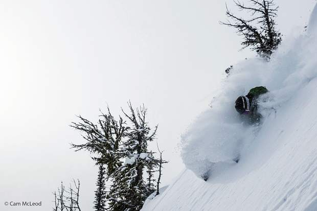 Marcus Caston cruises at Kicking Horse Mountain Resort in British Columbia. Caston is one of more than 20 athletes featured in
