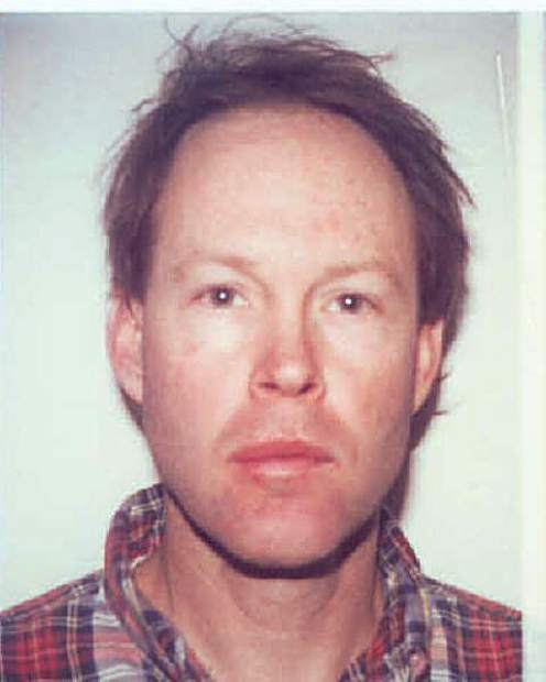 James Hogue in an Aspen Police Department booking photo from the late 1990s.