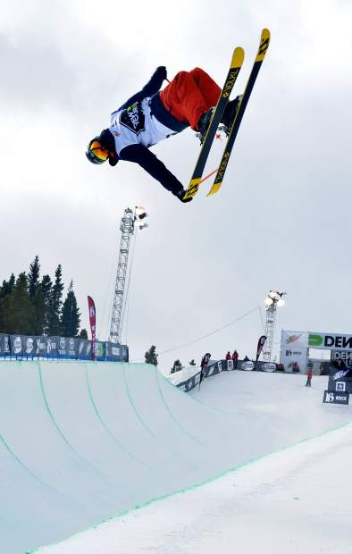Young Jaxin Hoerter of Breckenridge leans into an inverted tail grab during practice before the men's freeski superpipe semifinals for Dew Tour in 2015. On Nov. 30, Dew Tour officials canceled the 2016 superpipe competiiton due to late and low snowfall.