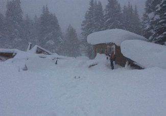 The Maid of Orleans cabin about a mile up Peru Creek was demolished sometime Wednesday by a destructive avalanche.