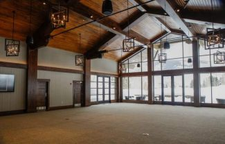 The space for events in the new golf and Nordic center clubhouse sits idle on Thursday in Vail. It is already fully booked next summer for events.