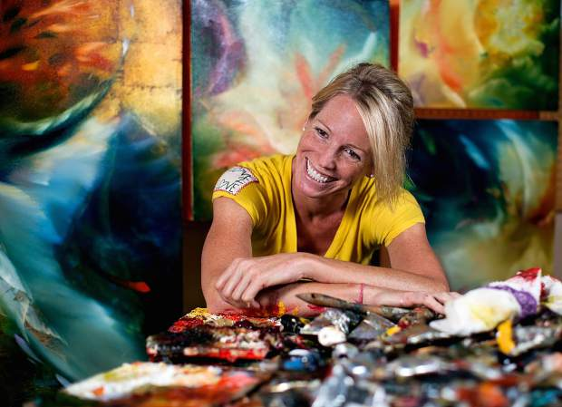 Dominique Taylor | Special to the Daily Beaver Creek painter Britten is the artist-in-residence for TEDxVail, which takes place at the Vilar Performing Arts Center on Friday, Jan. 6.