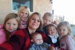 ShaylaBrantley with her six children.