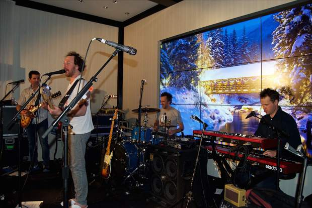 Guster performed its music during the Four Seasons Resort's Rock-N-Remedy event, bringing out locals and guests of the resort to hear live music on a mid-winter's evening.