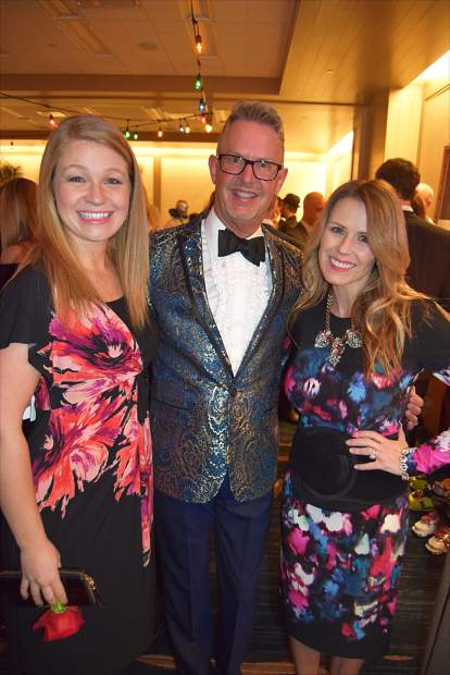 Committee member Randi Alt, 18th annual Black Diamond Ball event co-chair Sheldon Andrew and author Trista Sutter take a moment at the Vail Valley Foundation's largest annual fundraiser.