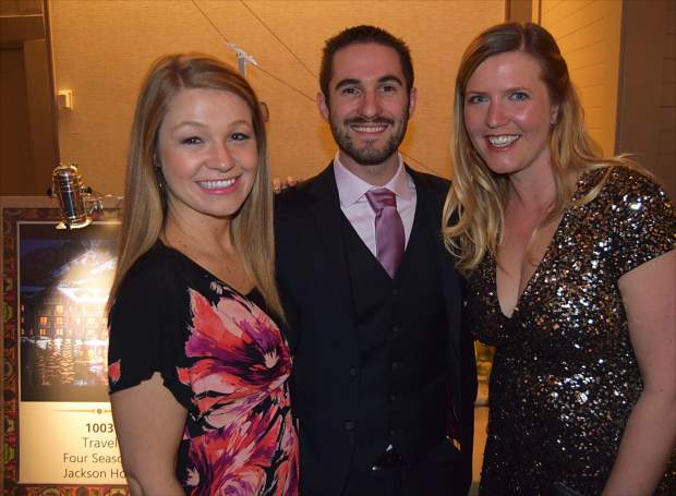 Randi Alt, Brendan Caffrey and Alana Hanks spend some time catching up at the Vail Valley Foundation's Havana Nights-themed Black Diamond Ball at the Park Hyatt, Beaver Creek.