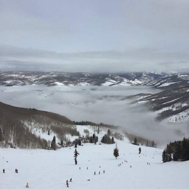 @anth0nybarb0: Incredible inversion clouds over Beaver Creek. #VailLive