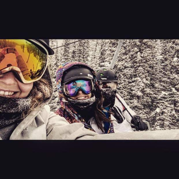 @ashley_pearce816: Crushing this powder day with some of the best! #VailLive