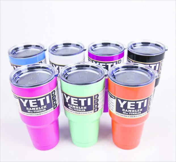 Yeti Ramblers, 30-ounce, $39.99 each.