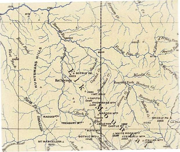 Crystal Colorado Map.Ute Trail Connected Crested Butte To Crystal Valley 145 Years Ago