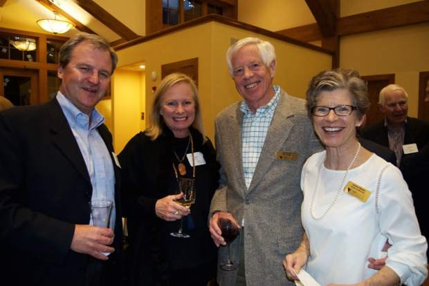 Mark and Lynn Wurzer, chairman of the Vail Symposium Board Dale Mosier and board member Jeanne Mosier celebrate 45 years and a bright future for the Vail Symposium.