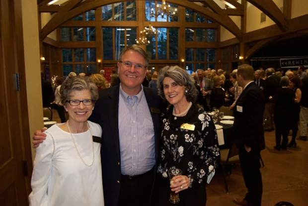 Board members Jeanne Mosier and Kathy Kimmel join Vail Symposium executive director Kris Sabel in celebrating 45 years and welcoming a very bright future for the Vail Symposium.