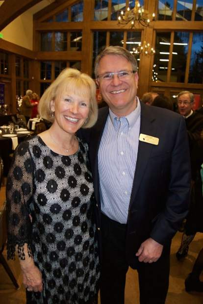 President and CEO of Roundup River Ranch Ruth Johnson and her husband Kris Sabel, executive director of the Vail Symposium, enjoy an evening celebrating 45 years of Vail Symposium programming.