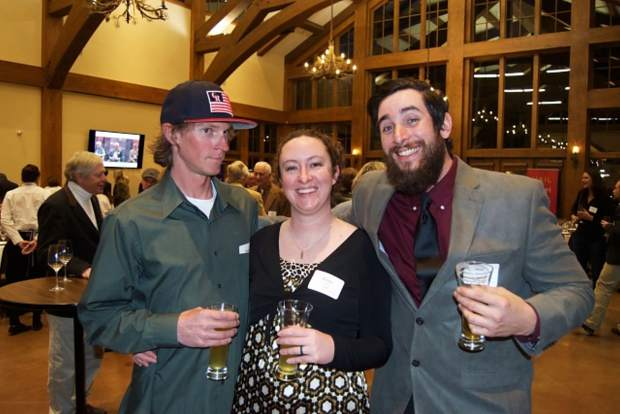 Devin Schow, Krista Driscoll and Matt Decker celebrate 45 years of the Vail Symposium's convening locally and thinking globally at the anniversary soiree.
