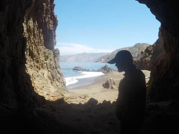 Channel Islands cave.