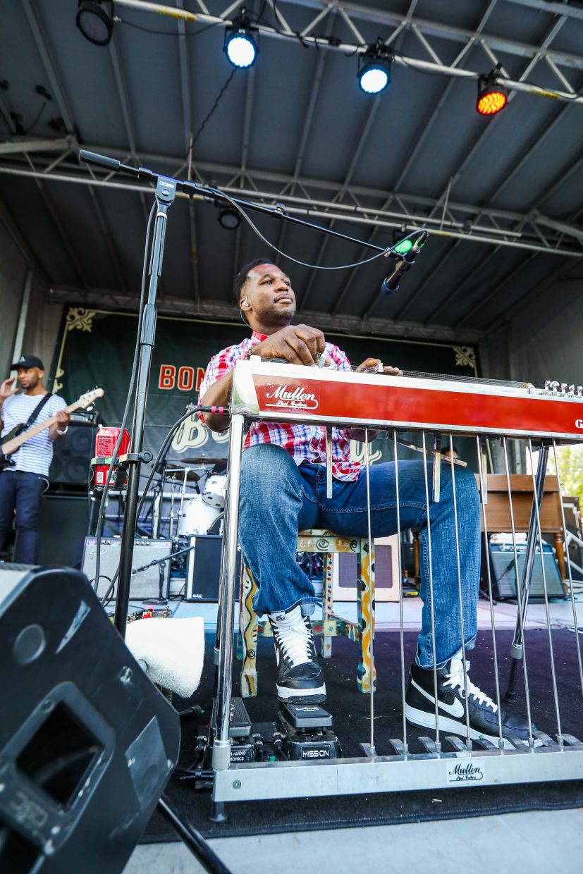Robert Randolph and the Family Band perform for the first night of the Bonfire Block Party on Friday in Eagle. The two-day event concludes tomorrow with the California Honeydrops.