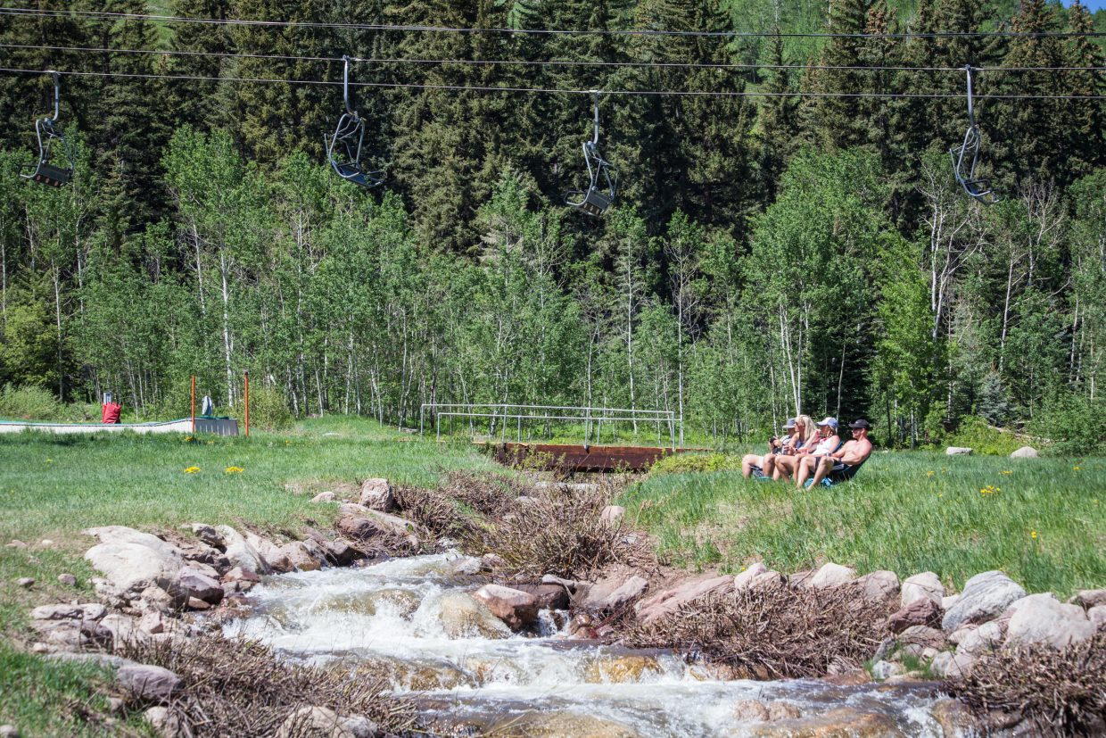 The warm weather over the weekend of the GoPro Mountain Games had a lot of visitors following the mantra of