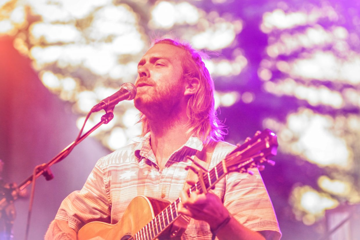 Trevor Hall plays at Ford Amphitheater for the GoPro Mountain Games on Saturday in Vail.