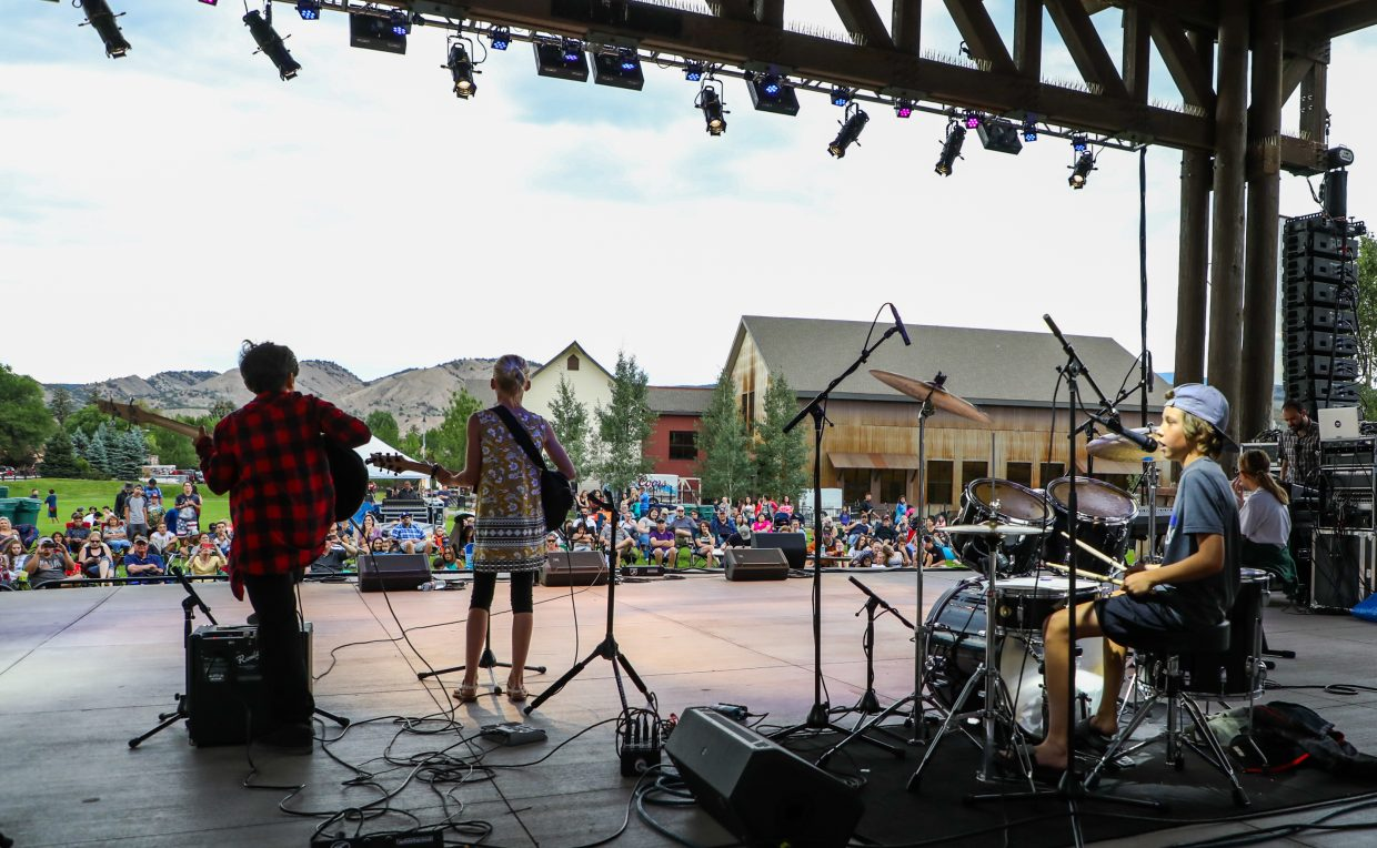 First Record Band performs during the Youth Talent Show as part of Gypsum Days on Friday in Gypsum. The event continues today with a packed schedule, finishing with The Swon Brothers and Gary Allan.
