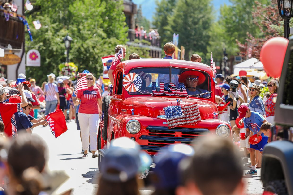 There was no shortage of red, white and blue during Vail America Days July 4 parade on Tuesday in Vail. The parade drew large numbers of people to watch from Golden Peak to Lionshead.