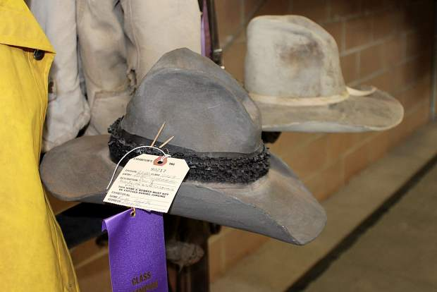Kym Luck of Eagle fashioned these cowboy hats, which look like weathered leather, from clay for the Eagle County Fair.