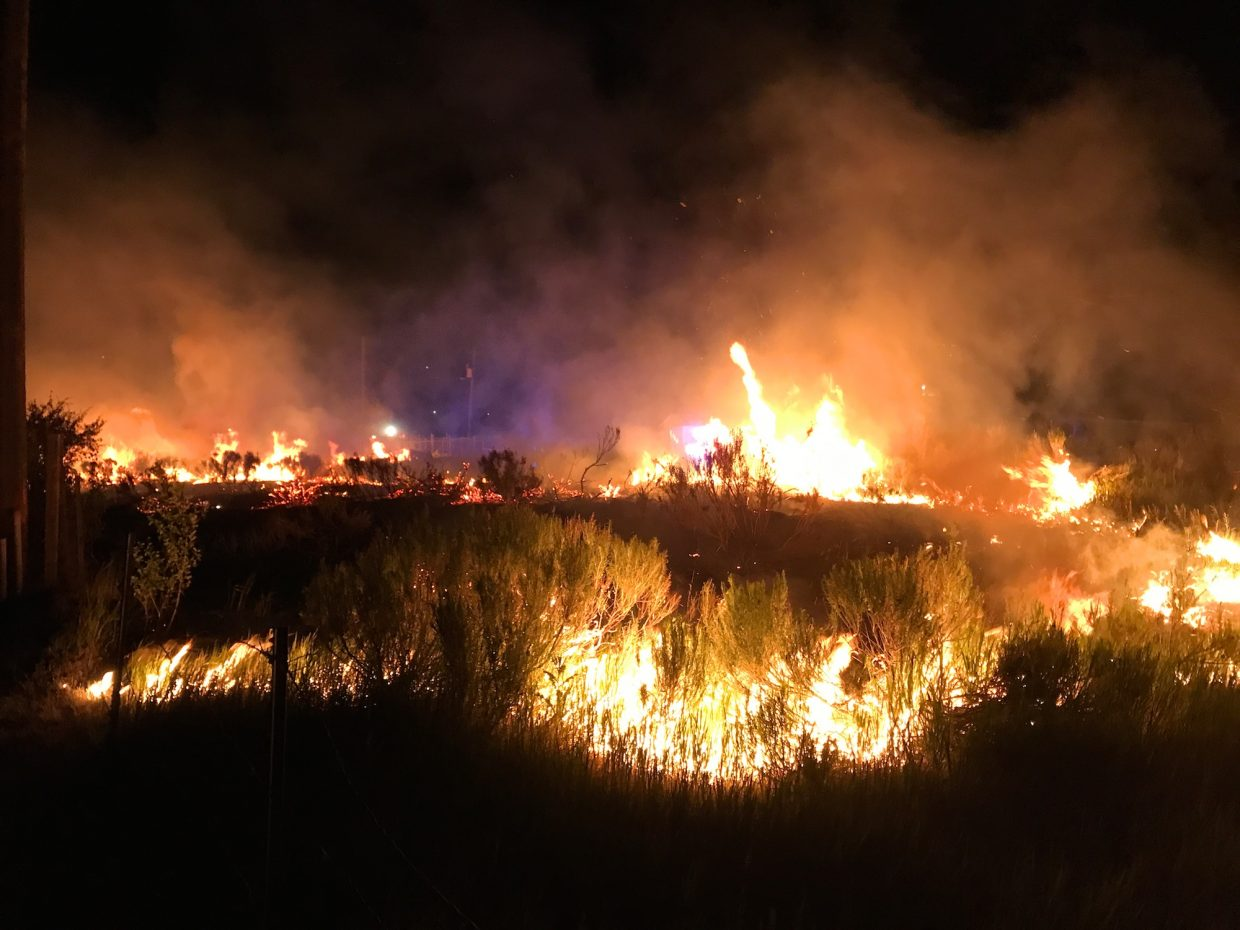 A fire broke out Wednesday night near the Eagle River Village mobile-home park.