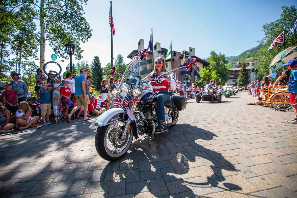 Motorcycles kick off the July 4 parade for Vail America Days on Tuesday in Vail.