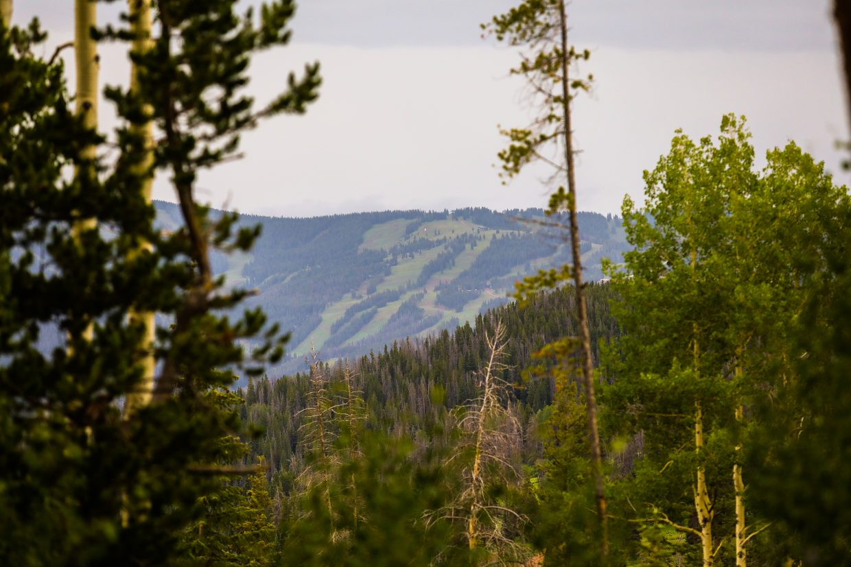 Vail seen from Lost Lake Trail during the Lost Lake Loop mountain bike race Wednesday in Vail.