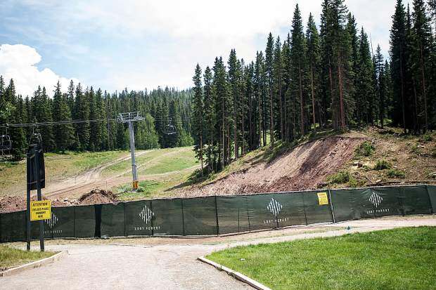The base of the construction zone for the alpine coaster that's being put in near Elk Camp in Snowmass.