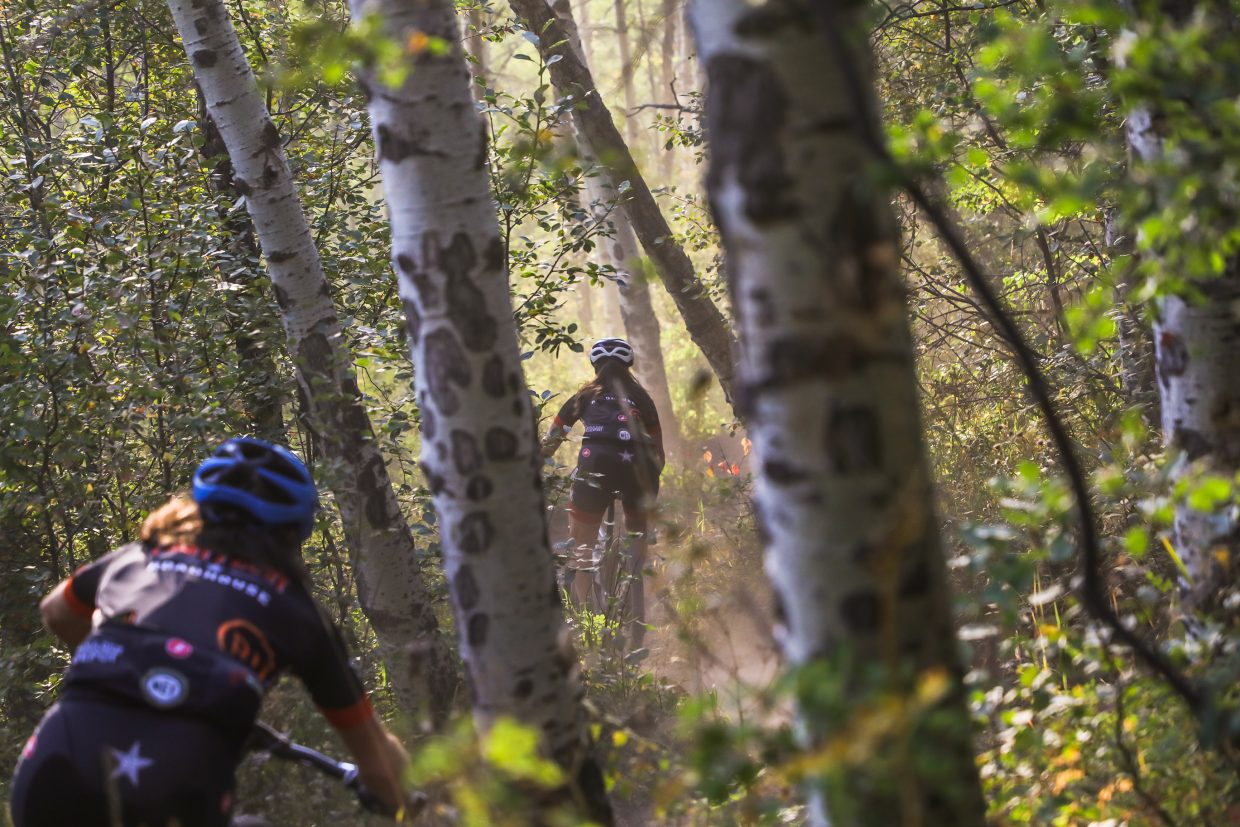 Riders begin the Beaver Creek Blast Wednesday, Aug. 23, in Beaver Creek. It was the last Vail Recreation District's mountain bike race of the season.