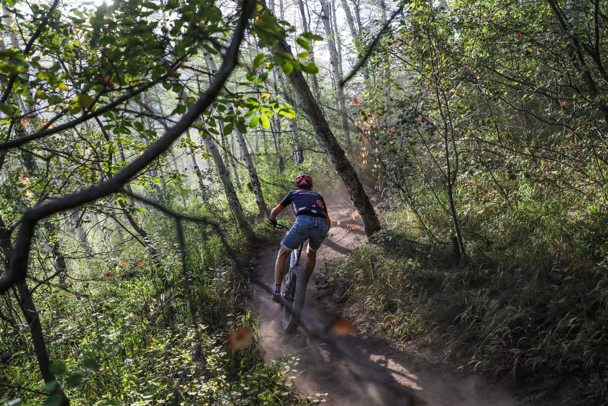 Riders race in the Beaver Creek Blast Wednesday, Aug. 23, in Beaver Creek. It was the last Vail Recreation District's mountain bike race of the season.