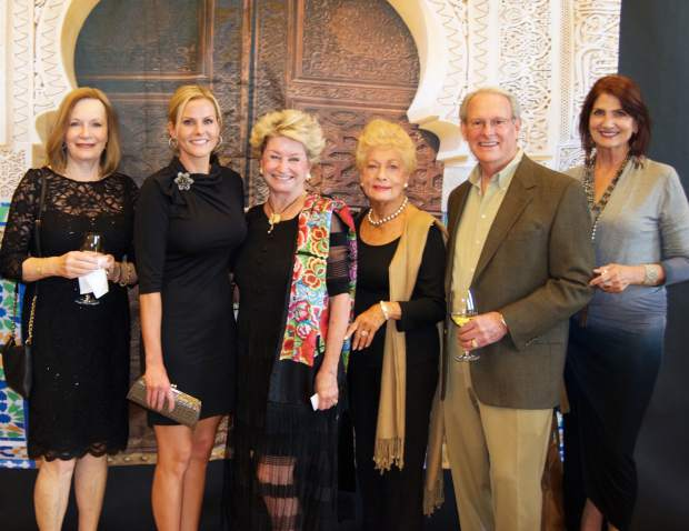 Rosslyn Valentine, Victoria Chester, Kay Chester, Phyllis Acklie, Rob Wright and Darlene Daugherty attended the Casablanca Nights Gala in support of the Edwards Interfaith Chapel and Community Center.