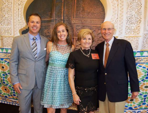 Dan Chalfant and Jill Chalfant, executive director of the Edwards Interfaith Chapel and Community Center, join Linda Egan of the Casablanca Nights event committee and Bob Egan, president of the Eagle Valley Religious Foundation.