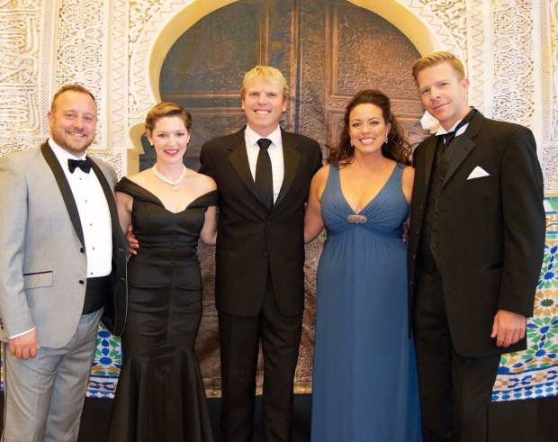 Casablanca Nights Gala performers Donald Graves, Leah Edwards, Michael Bunchman joined Jessica Medoff, artistic director of Nights events, and Gregory Gerbrandt to sing arias and musical theater numbers.