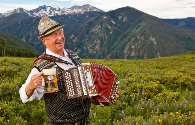 Beaver Creek's Oktoberfest celebrtaions take place Saturday and Sunday, Sept. 2-3 with a beer garden, authentic Bavarian food, a kids fun zone, live music from Trachtenkapelle out of Lech-Zurs, Austria, and valley local Helmut Fricker, pictured. There will also be a famil fun run, costume contest and will be a foot stompin' oom-pah-pah good time. Visit www.BeaverCreek.com.
