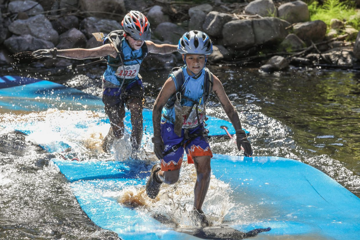 Kids compete in the Expert Division for the Kids Adventure Games Friday, Aug. 11, in Vail.